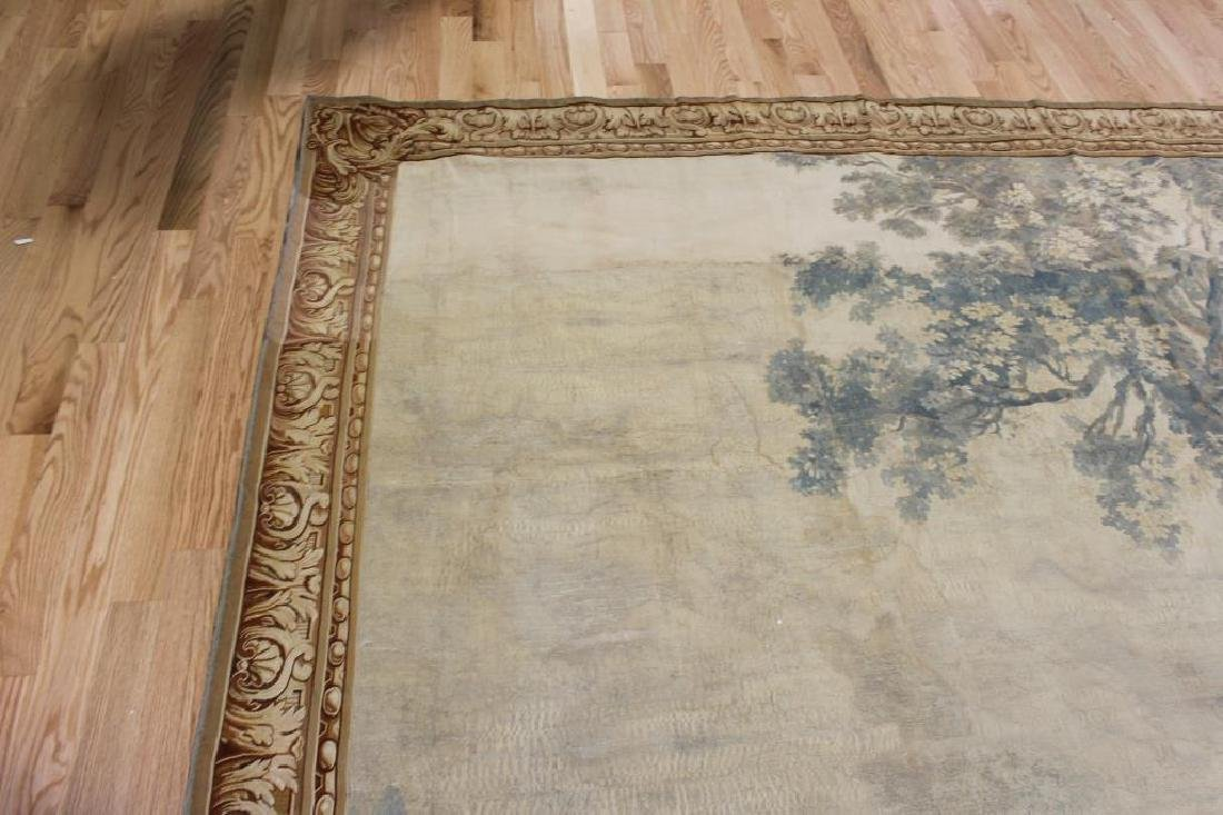 Magnificent  Signed Antique Continental Tapestry - 11