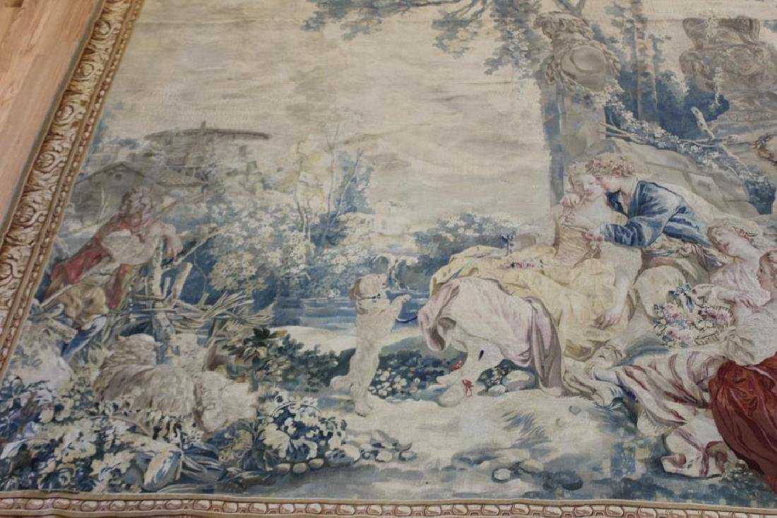 Magnificent  Signed Antique Continental Tapestry - 3