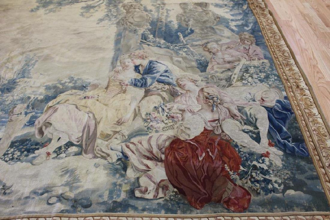 Magnificent  Signed Antique Continental Tapestry - 4