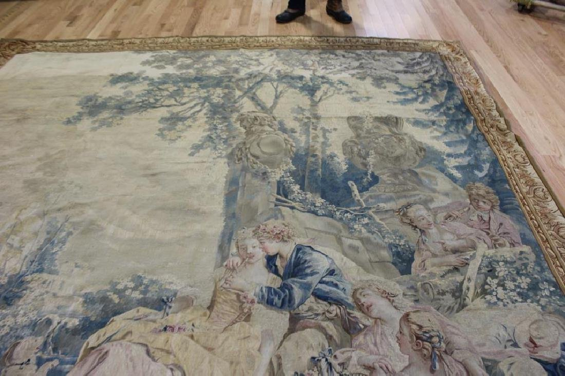 Magnificent  Signed Antique Continental Tapestry - 5