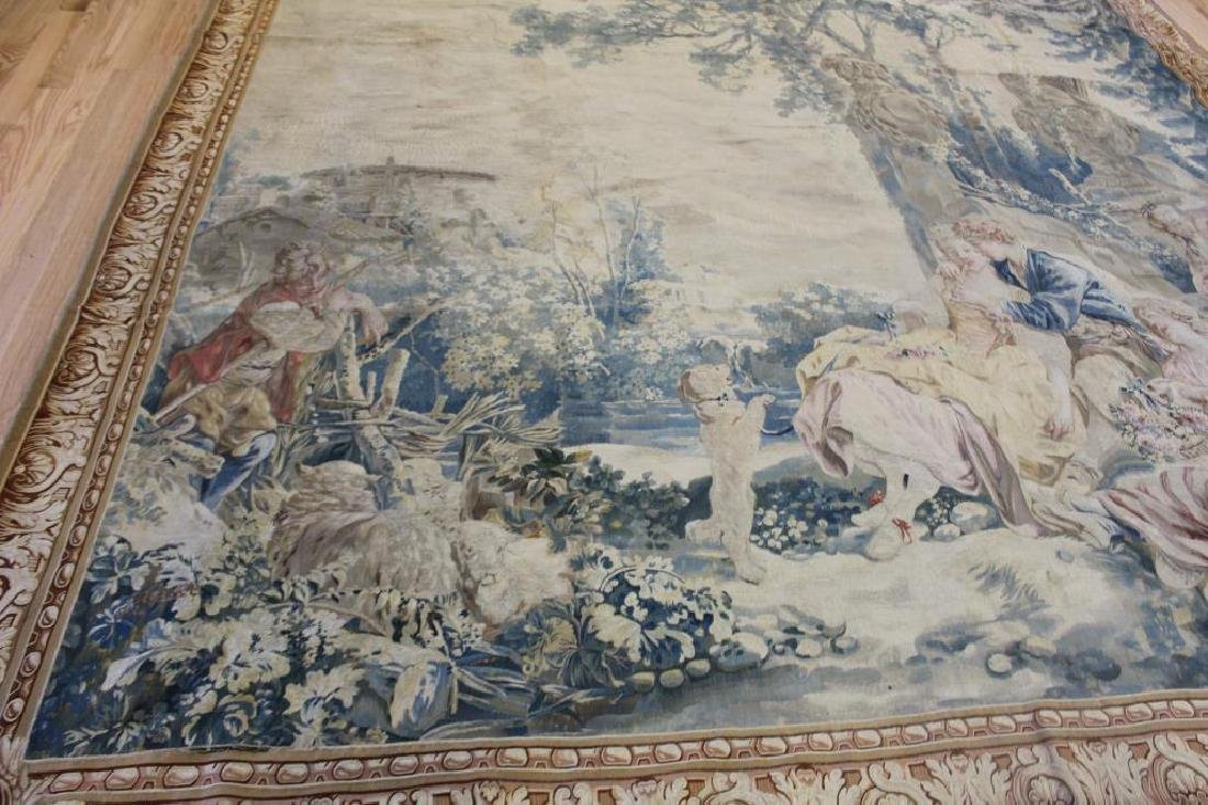 Magnificent  Signed Antique Continental Tapestry - 6