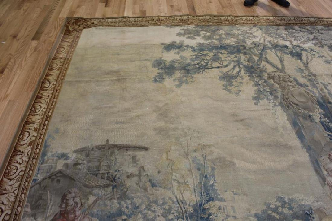 Magnificent  Signed Antique Continental Tapestry - 7