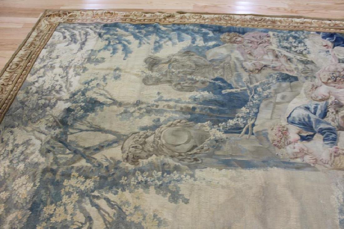 Magnificent  Signed Antique Continental Tapestry - 8