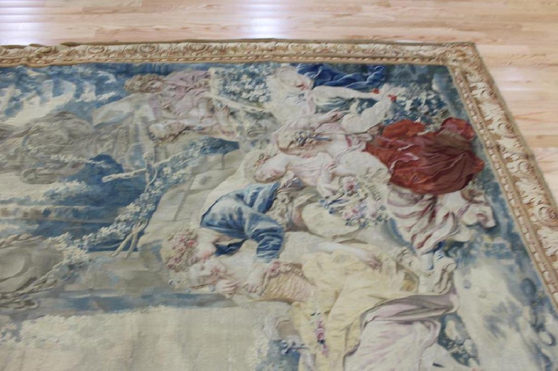 Magnificent  Signed Antique Continental Tapestry - 9