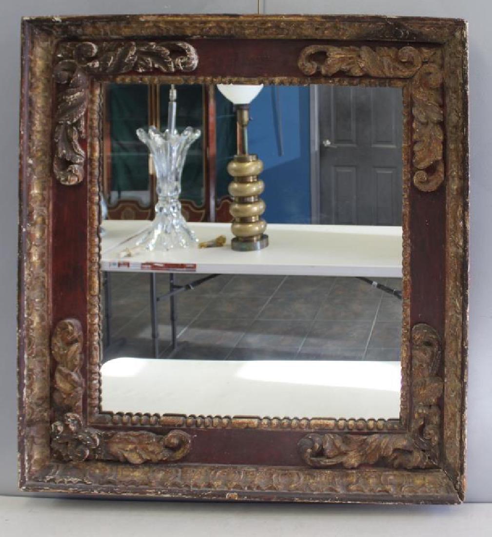 18 Century Italian Carved  Framed Mirror