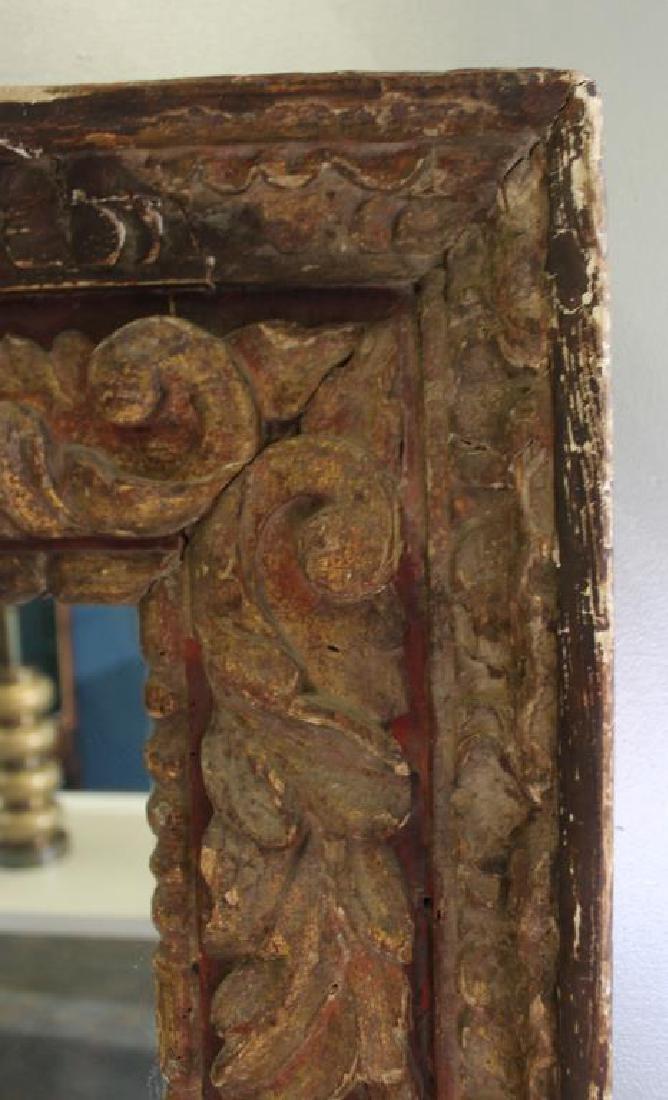 18 Century Italian Carved  Framed Mirror - 2