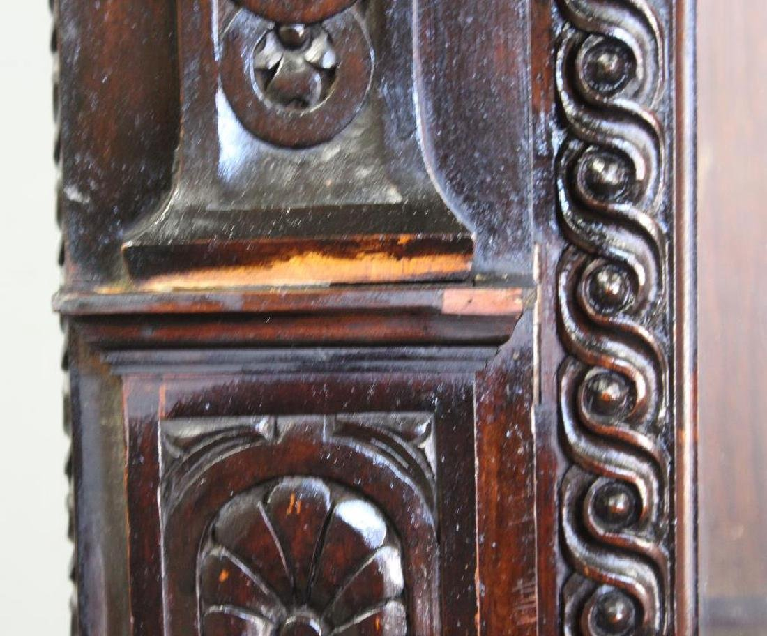 Highly Carved Antique Mahogany 2 Door Bookcase . - 2