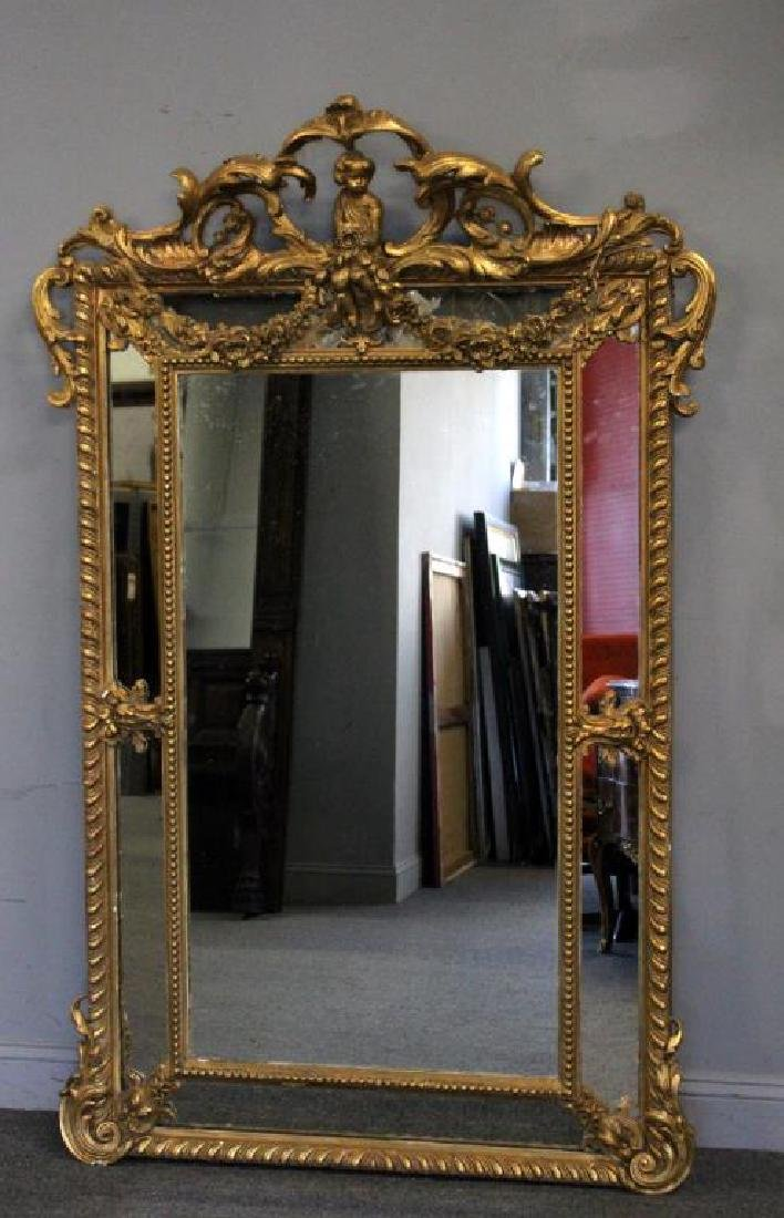 Large and Impressive 19th Century Carved Giltwood