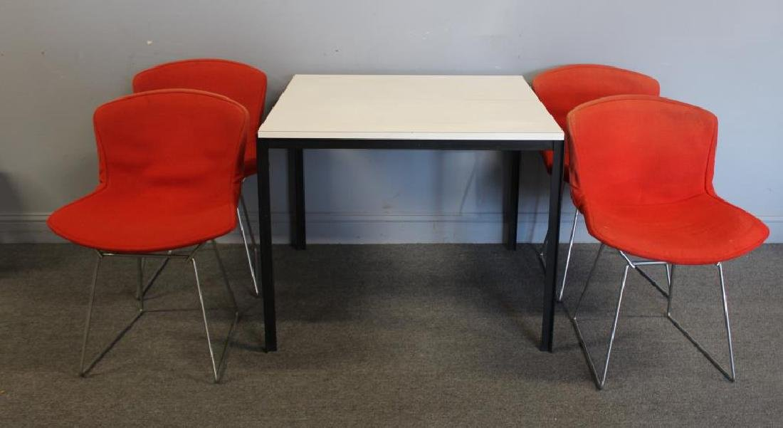 KNOLL. 4 Bertoia Chairs Together with a Knoll