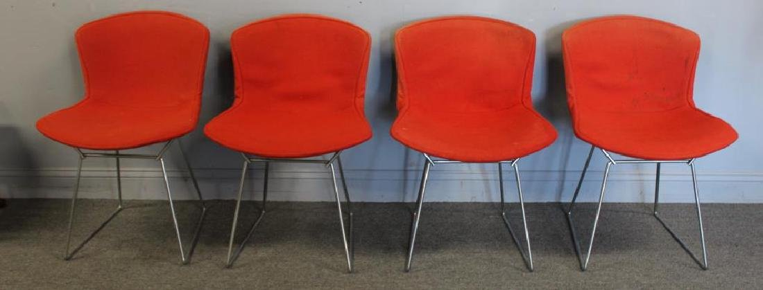 KNOLL. 4 Bertoia Chairs Together with a Knoll - 3