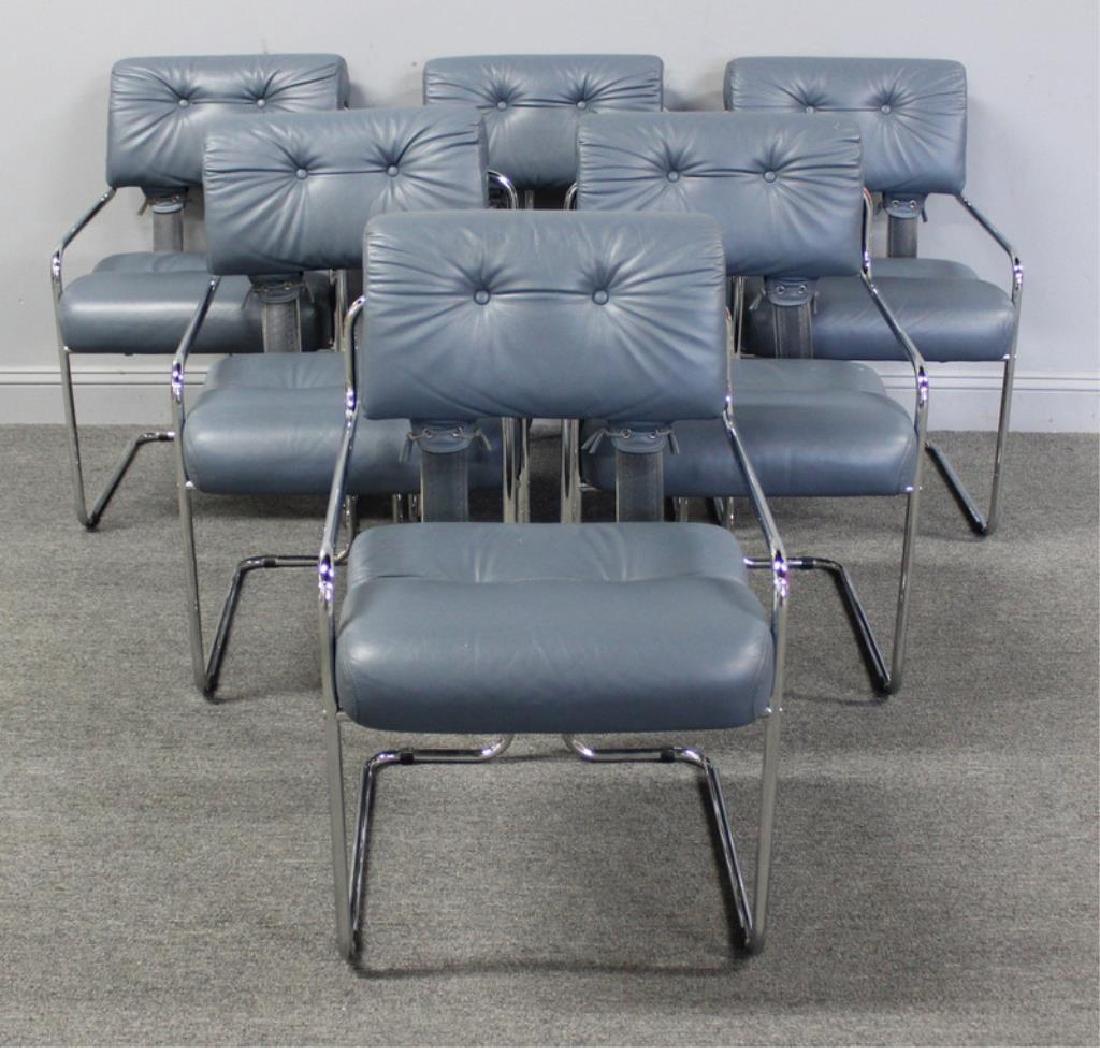 "Guido Faleschini. Set of 6 ""Tucroma"" Chairs."