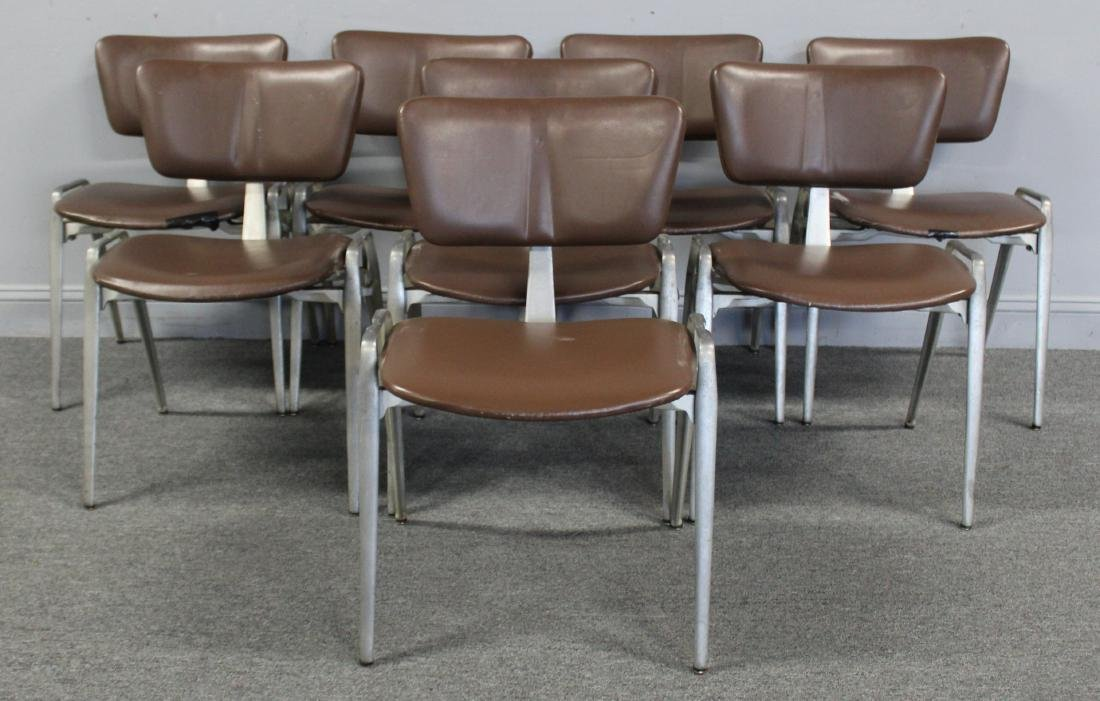 MIDCENTURY. Set of 8 Period Upholstered