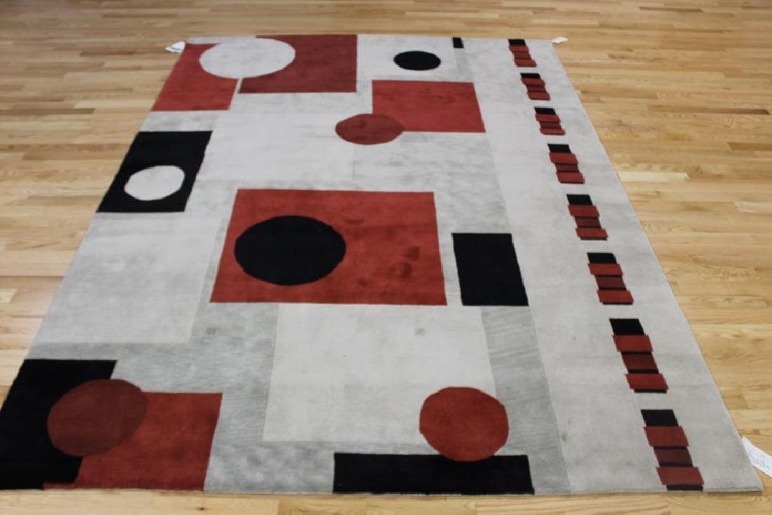 Vintage and Finely Hand Woven Abstract Design - 2