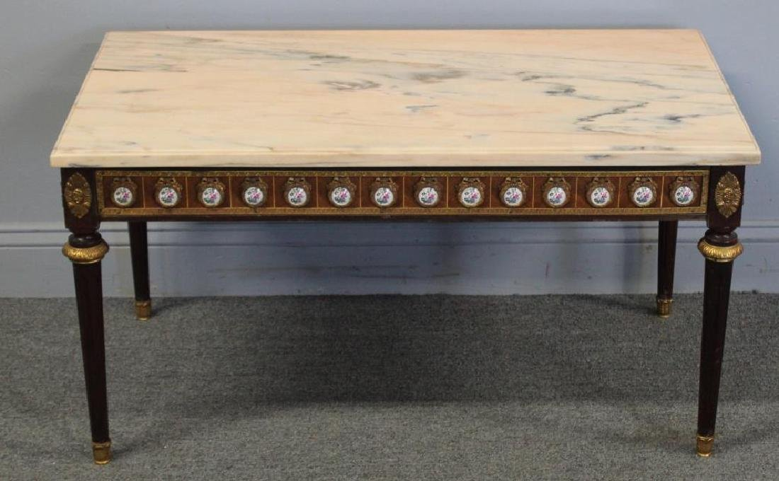 Antique Louis Philippe Style Marbletop Table with