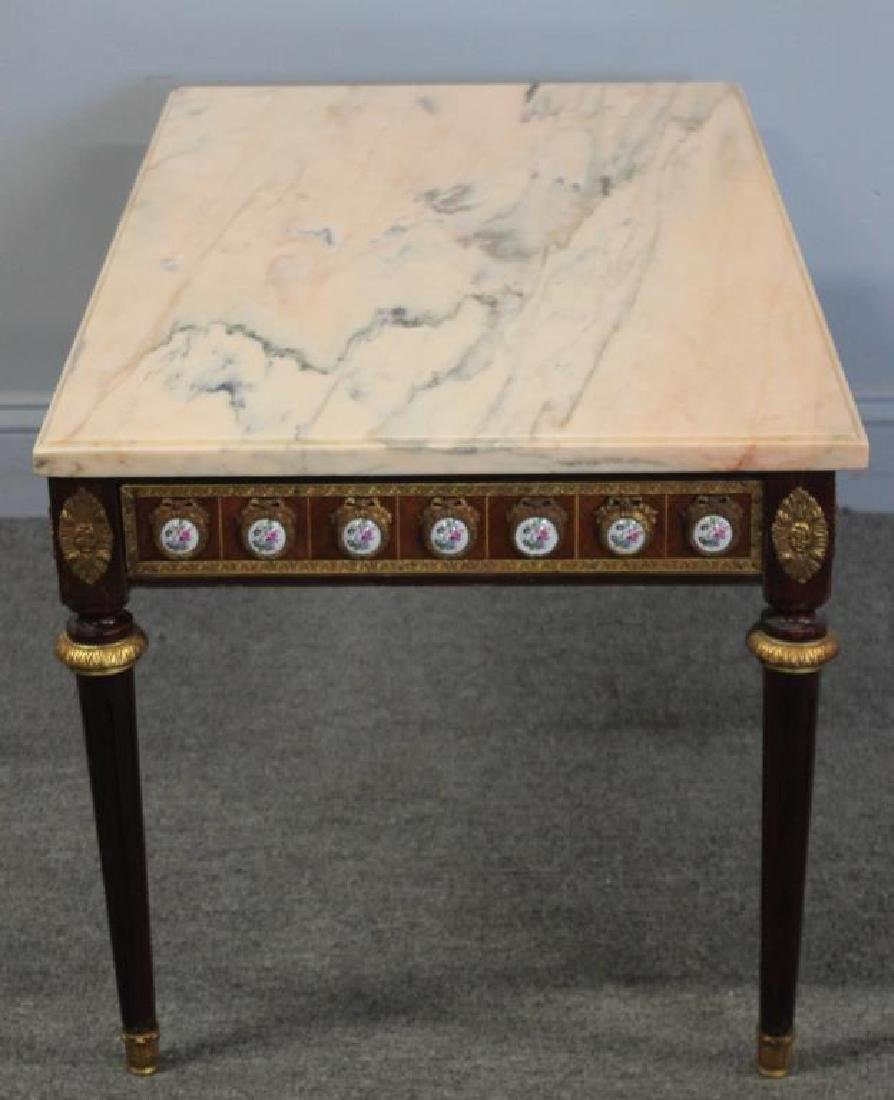 Antique Louis Philippe Style Marbletop Table with - 5