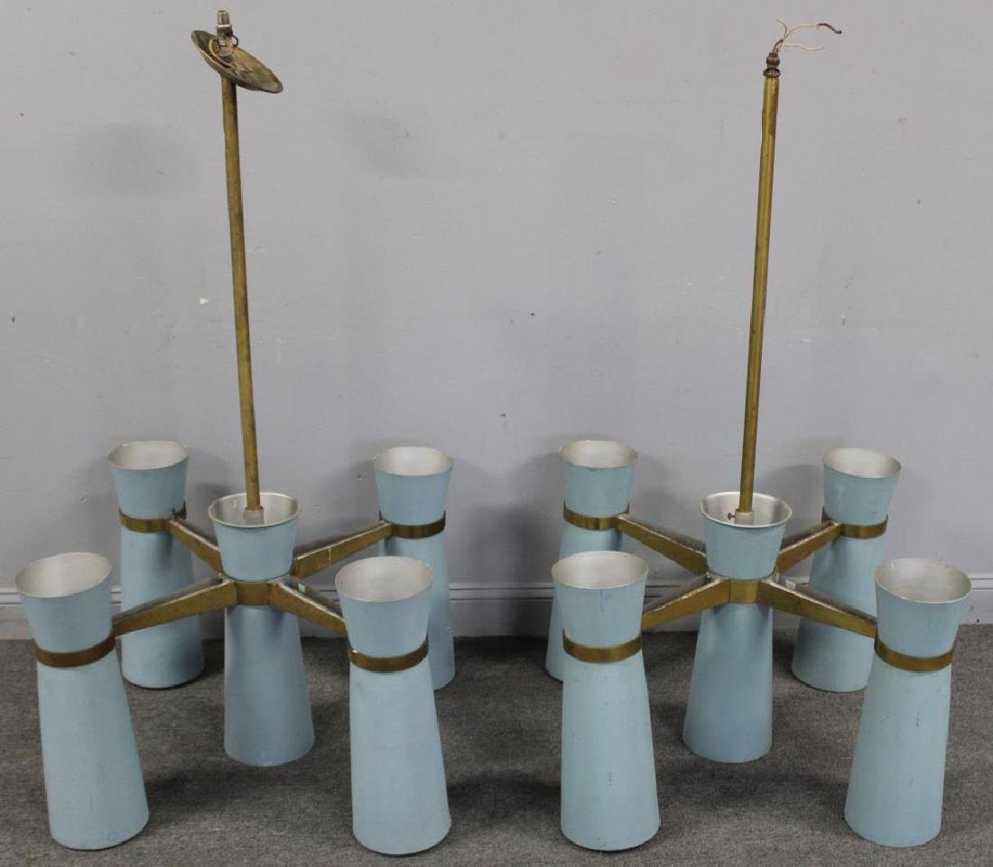 MIDCENTURY. Pair of Enameled Alluminium