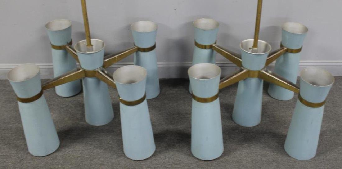 MIDCENTURY. Pair of Enameled Alluminium - 4