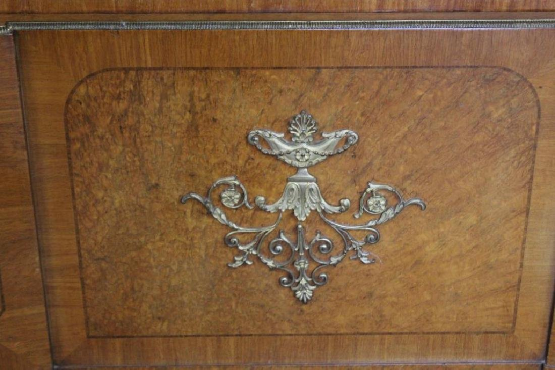 Art Deco Bronze Mounted and Inlaid Headboard - 2