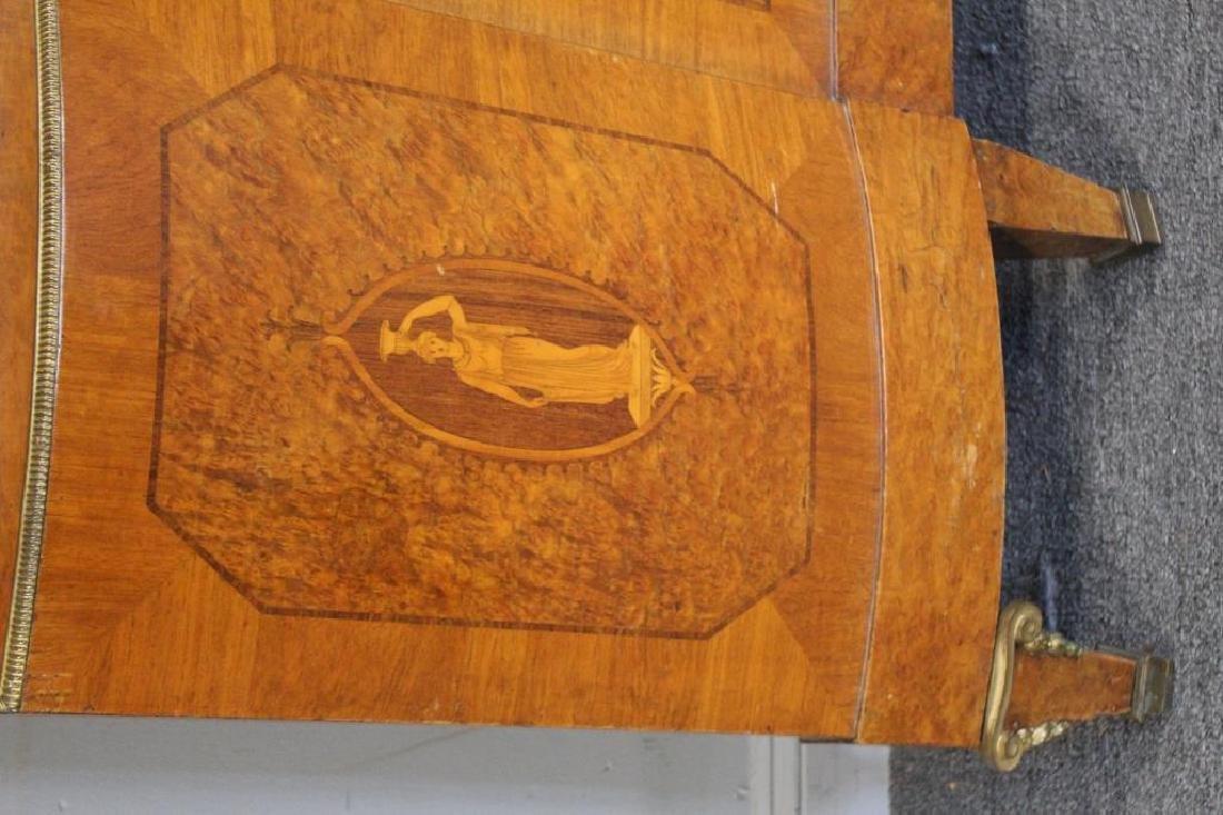 Art Deco Bronze Mounted and Inlaid Headboard - 3
