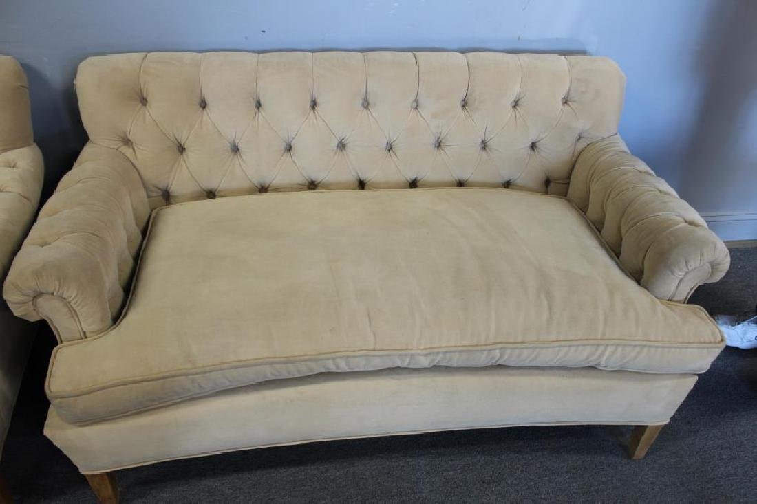 Vintage Upholstered  Chesterfield Style Settee