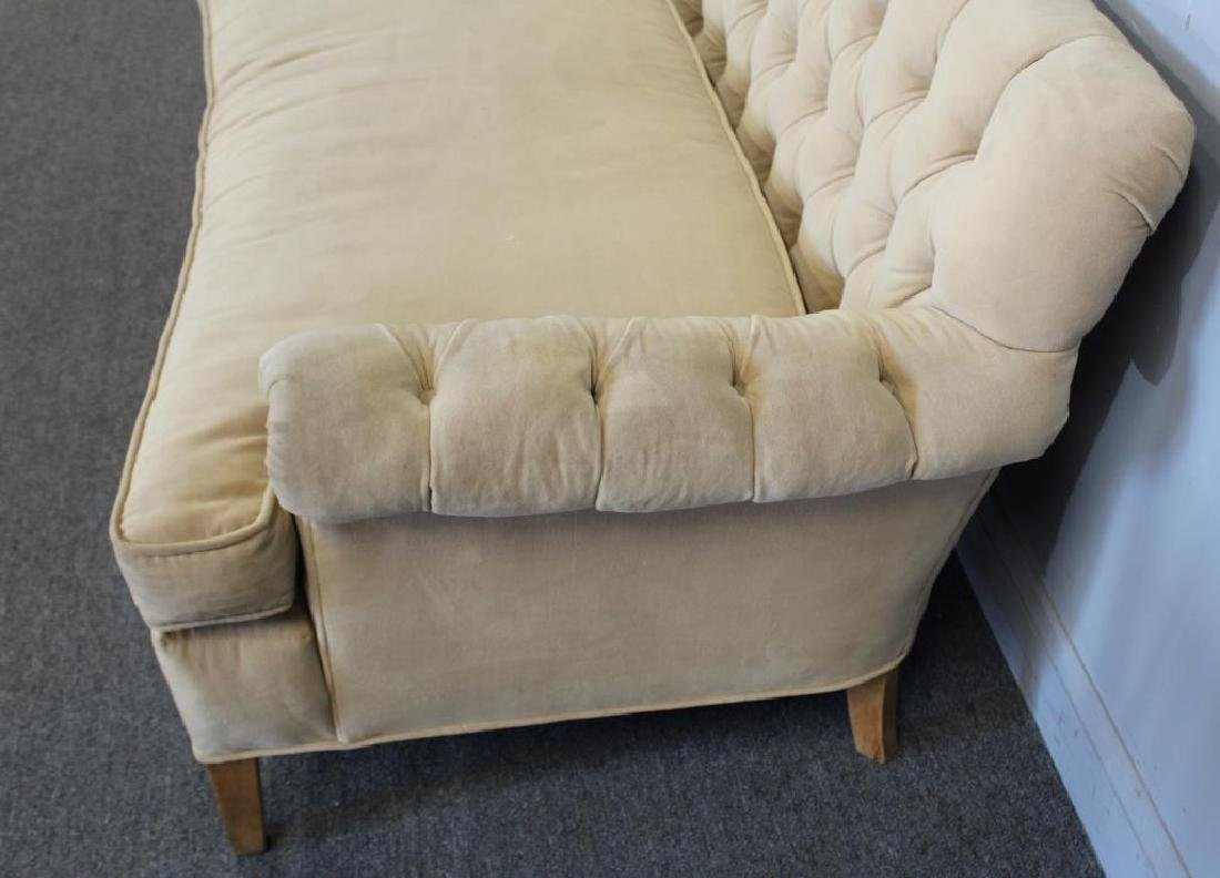 Vintage Upholstered  Chesterfield Style Settee - 3