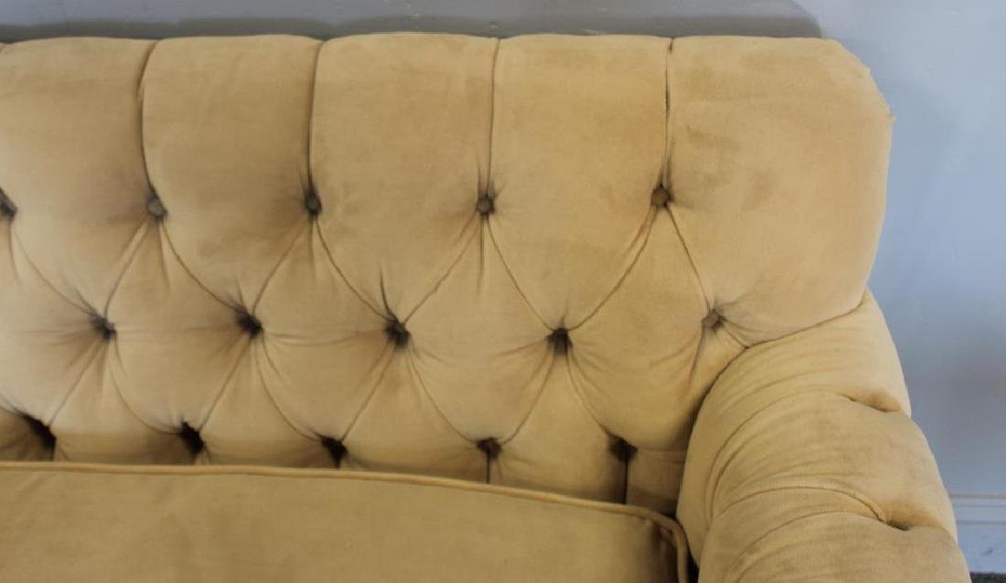 Vintage Upholstered  Chesterfield Style Settee. - 2