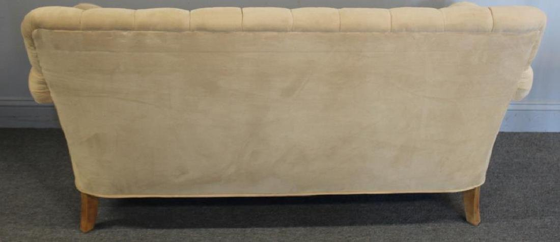 Vintage Upholstered  Chesterfield Style Settee. - 3