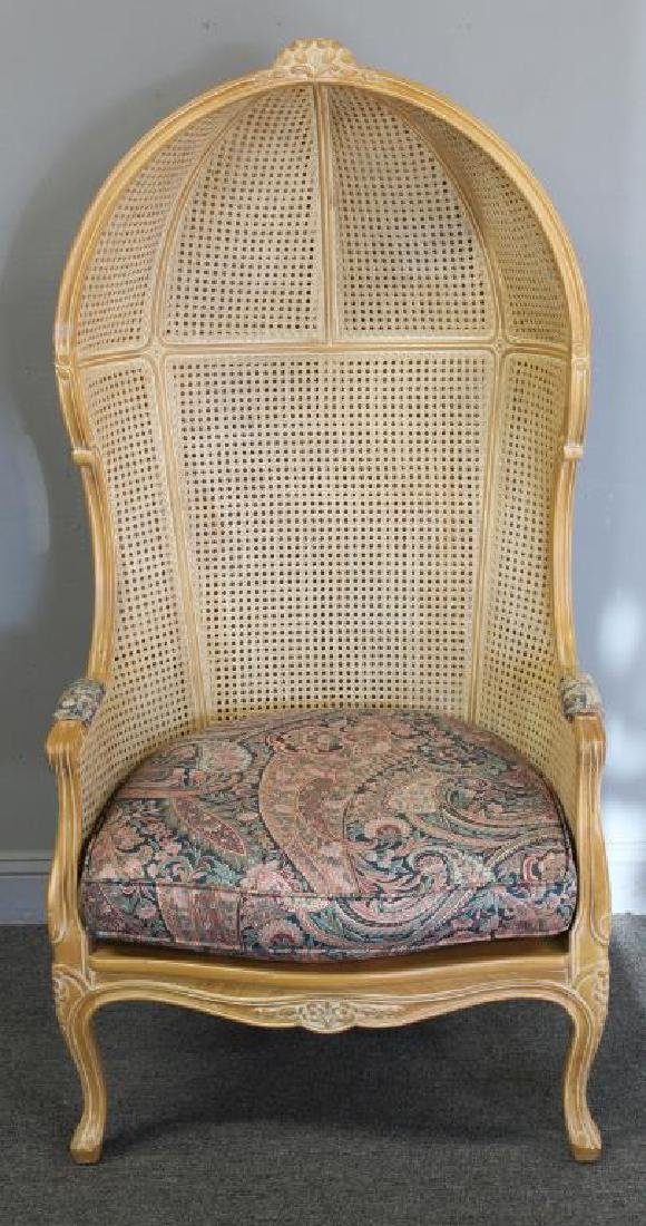 A Vintage Louis XV Style Caned Porter's Chair