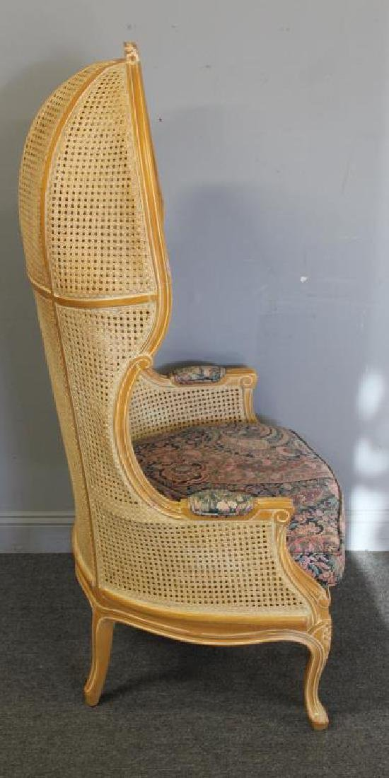 A Vintage Louis XV Style Caned Porter's Chair - 4