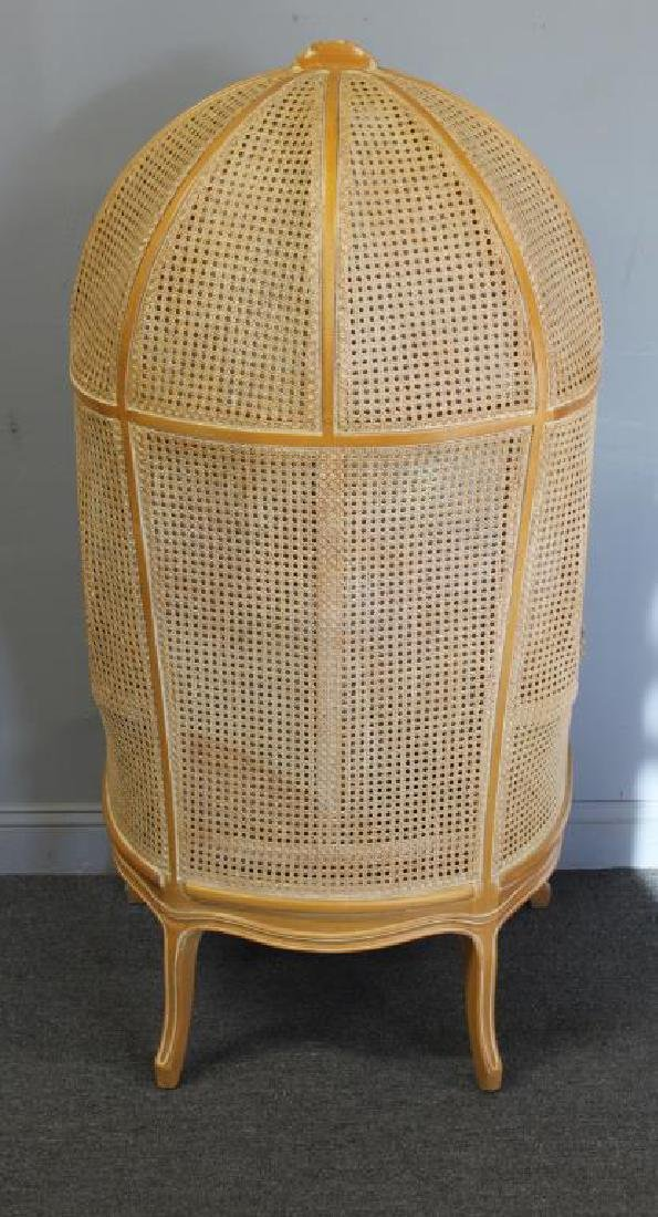 A Vintage Louis XV Style Caned Porter's Chair - 6