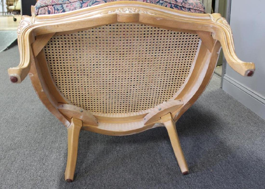 A Vintage Louis XV Style Caned Porter's Chair - 7