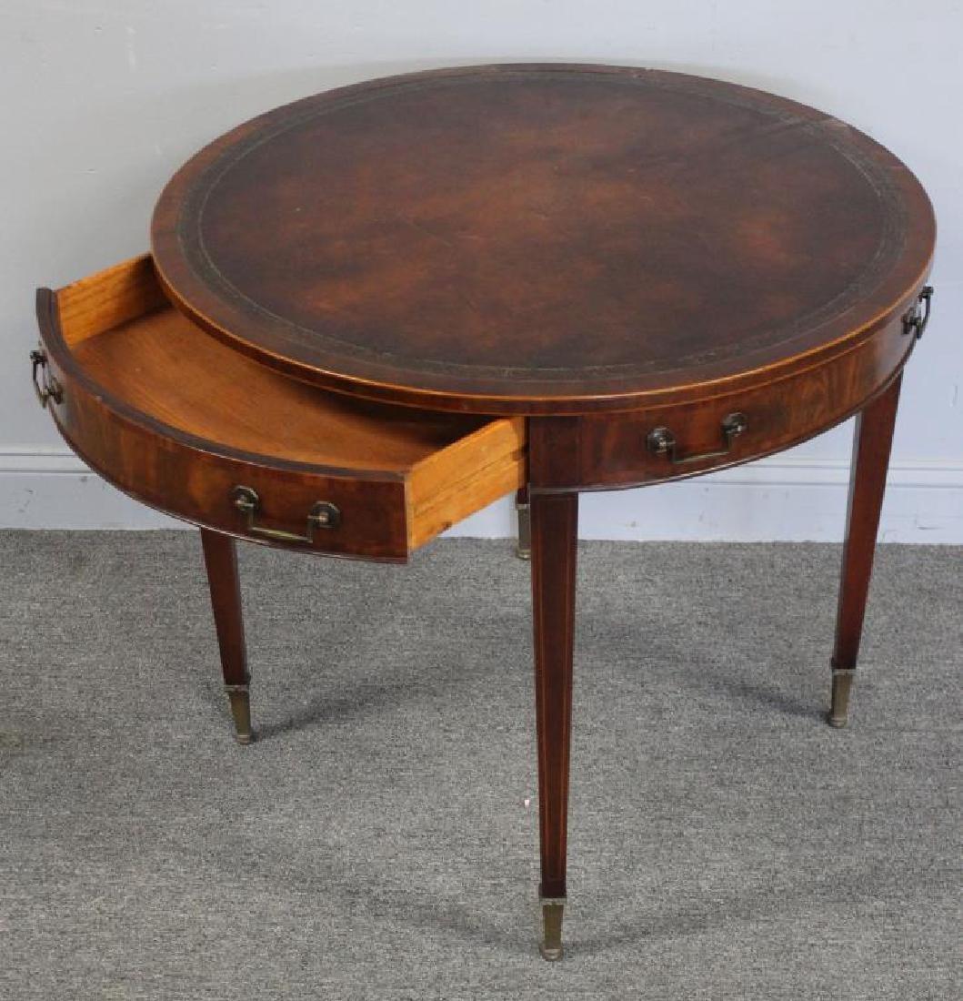 Antique  Mahogany Leathertop Table .