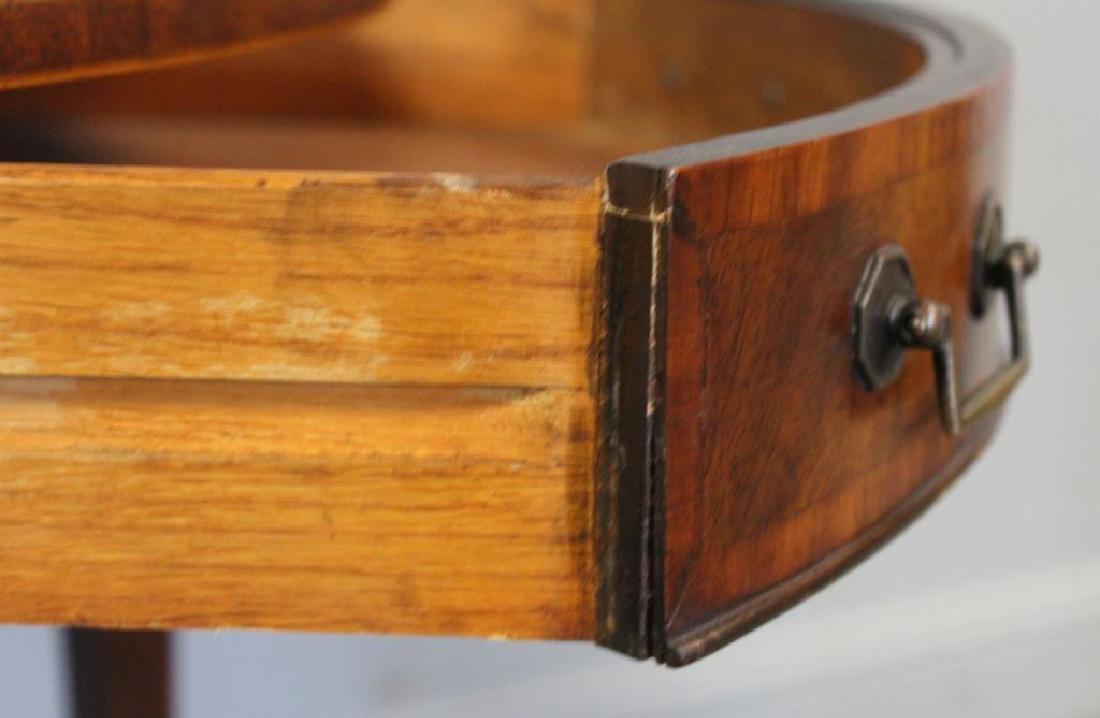 Antique  Mahogany Leathertop Table . - 5