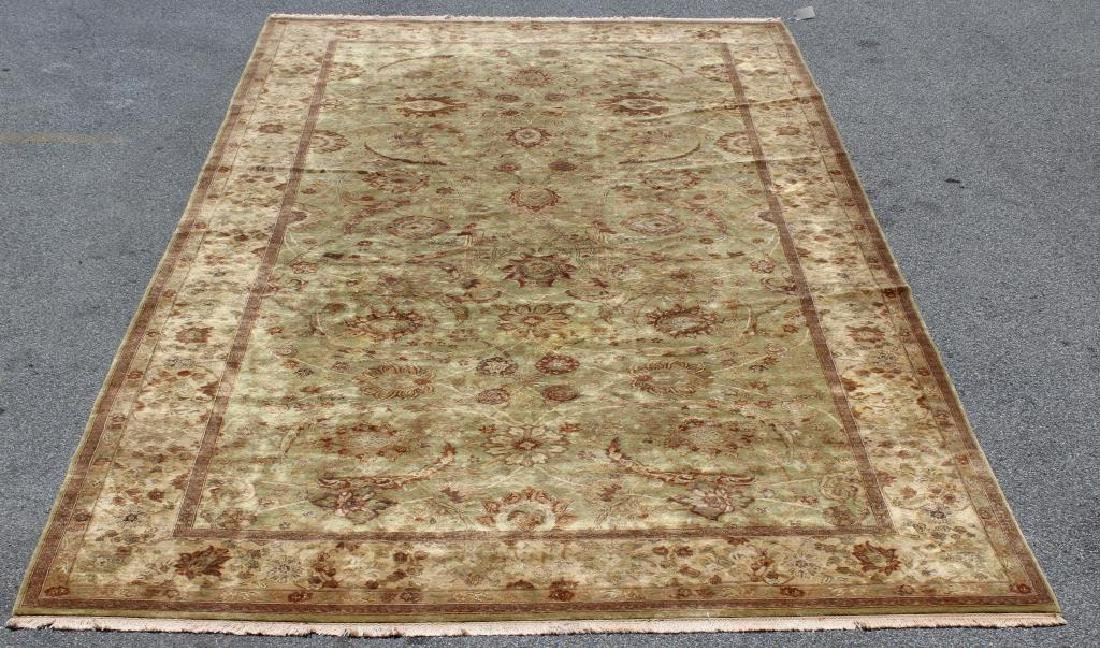 Finely Woven Vintage Handmade Roomsize Carpet.