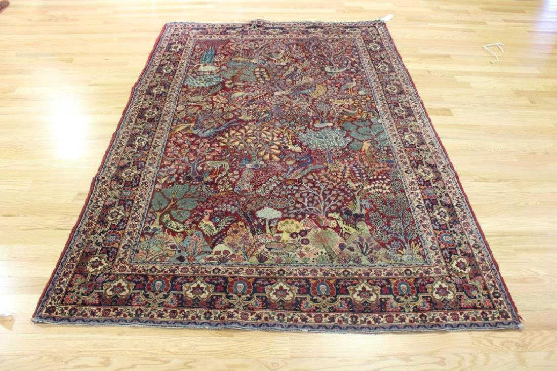 Antique and Finely Woven Area Carpet.