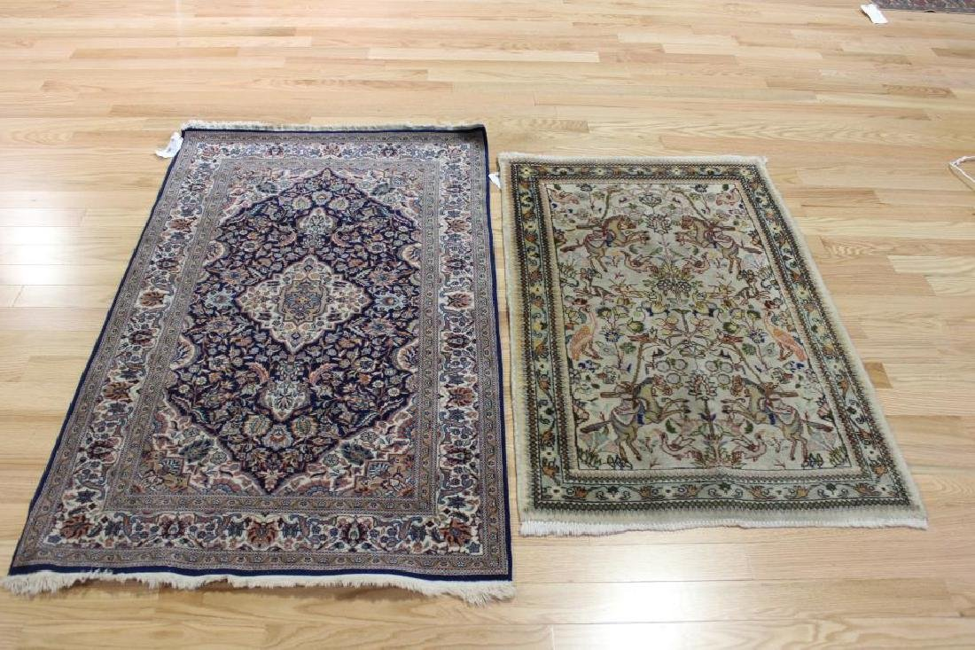 2 Antique and Finely Woven Area Carpets.