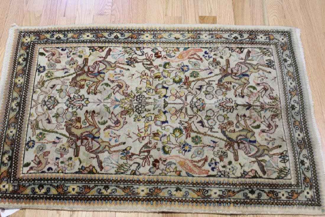2 Antique and Finely Woven Area Carpets. - 4