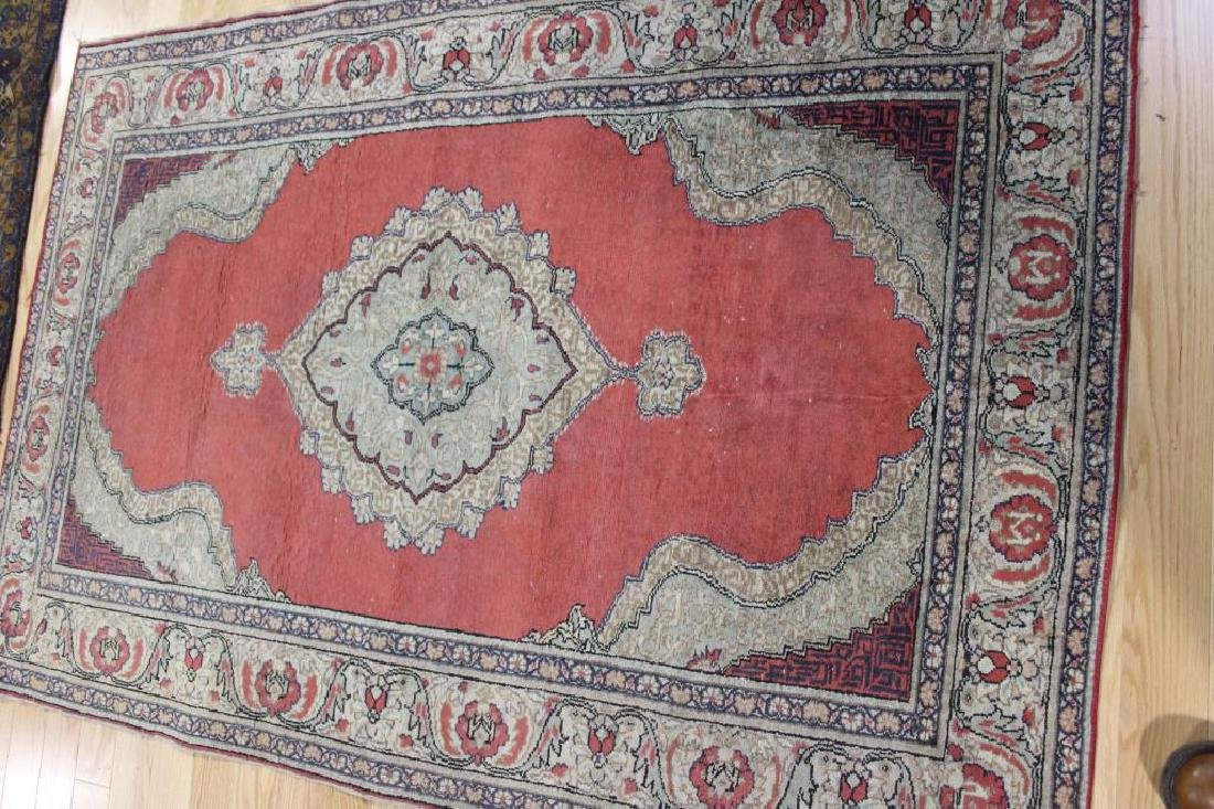 3 Antique and Finely Hand Woven Area Carpets. - 2