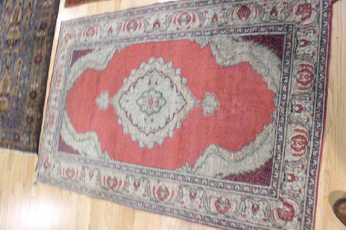 3 Antique and Finely Hand Woven Area Carpets. - 3