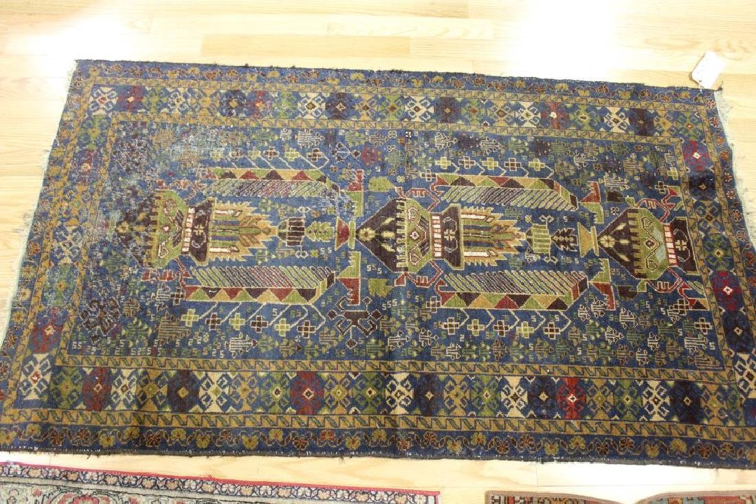 3 Antique and Finely Hand Woven Area Carpets. - 5