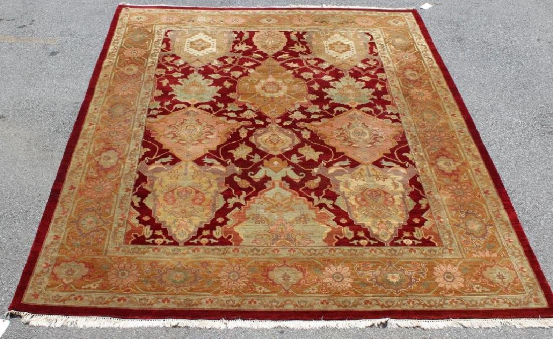 Finely Woven Vintage Roomsize Handmade Carpet.