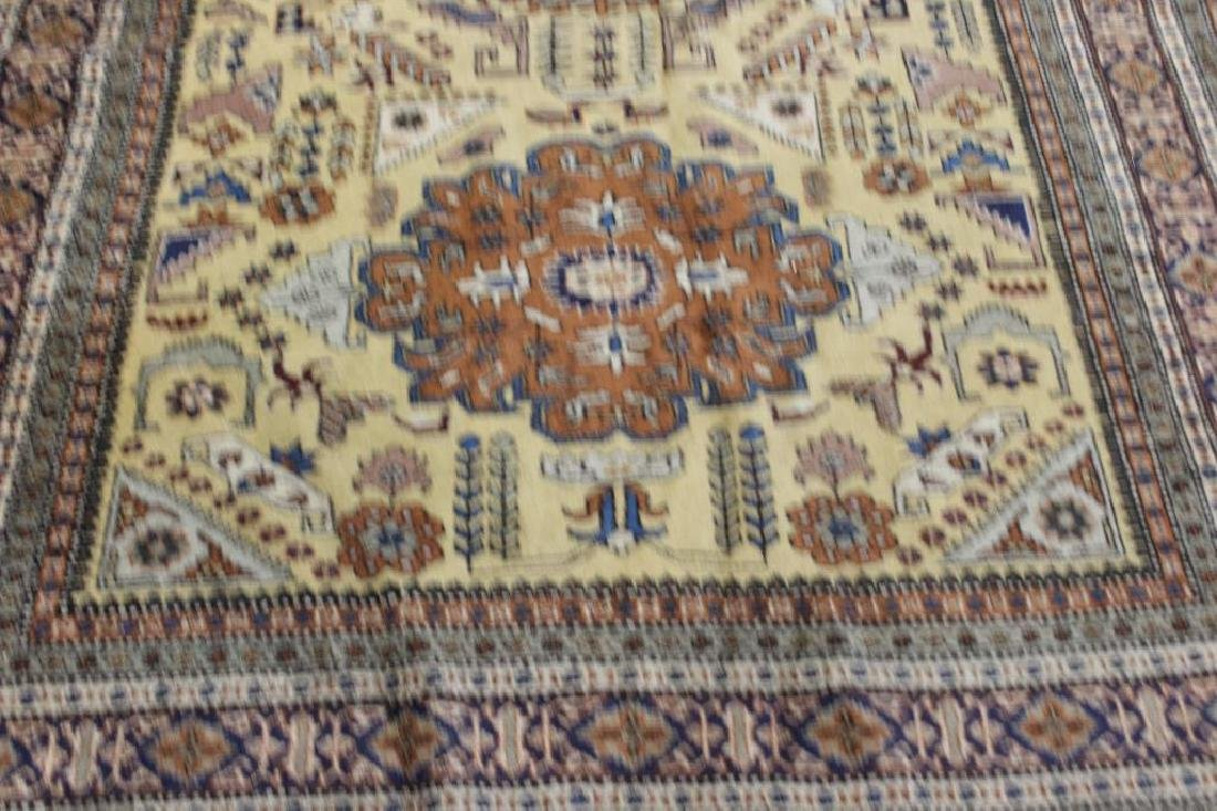 Lot of 2 Antique Finely Hand Woven Area Rugs. - 3
