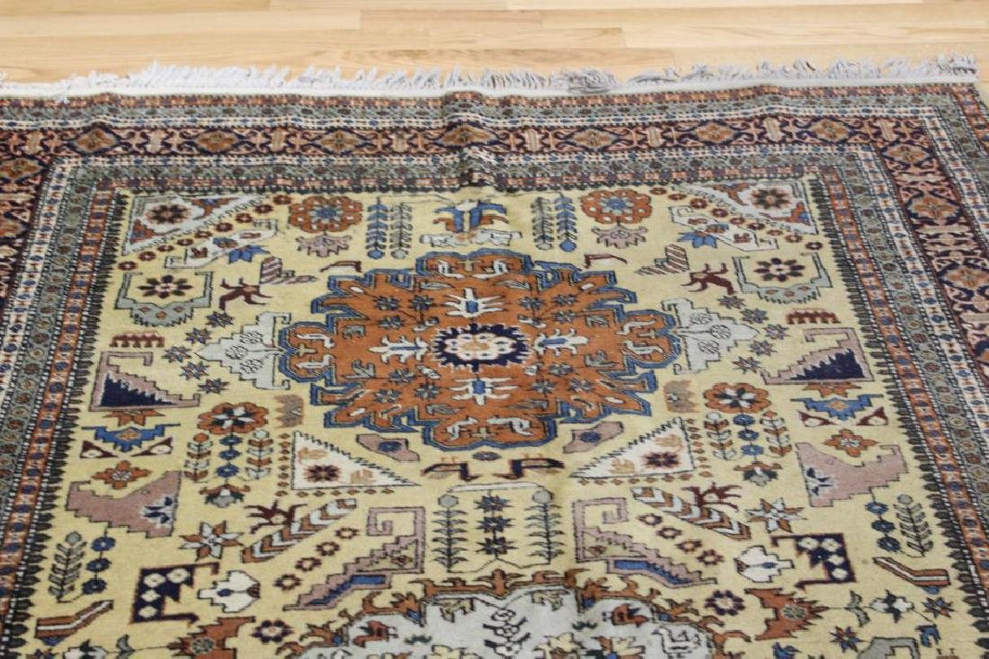 Lot of 2 Antique Finely Hand Woven Area Rugs. - 5