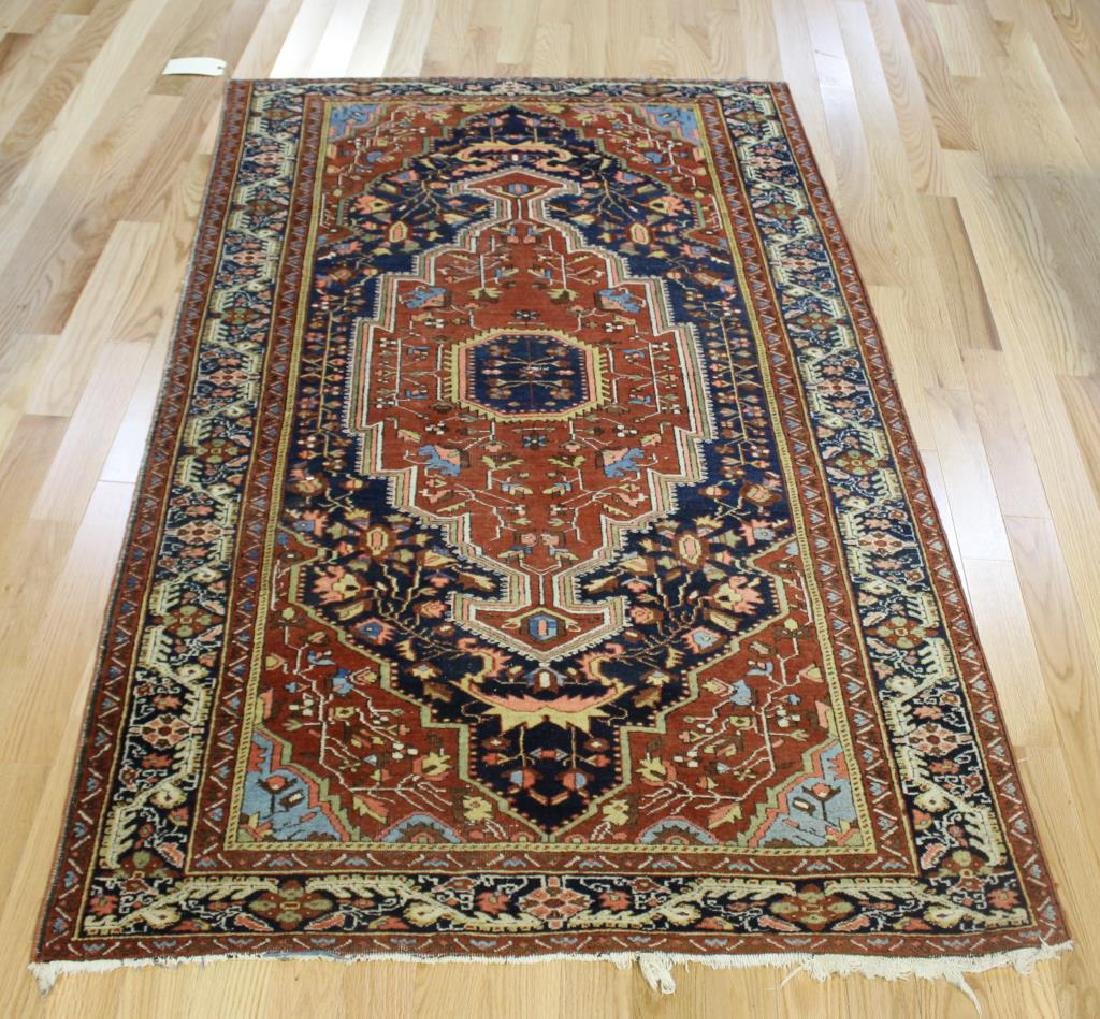 Antique and Finely Woven Sarouk Style Area Carpet.