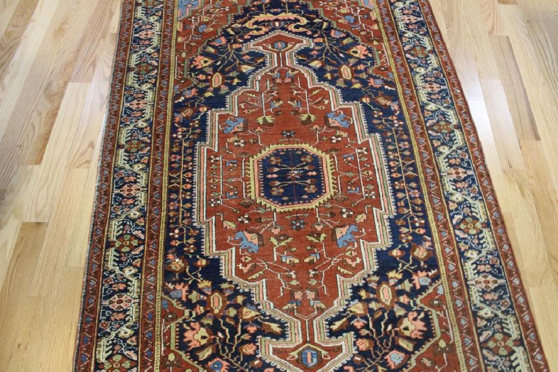 Antique and Finely Woven Sarouk Style Area Carpet. - 3
