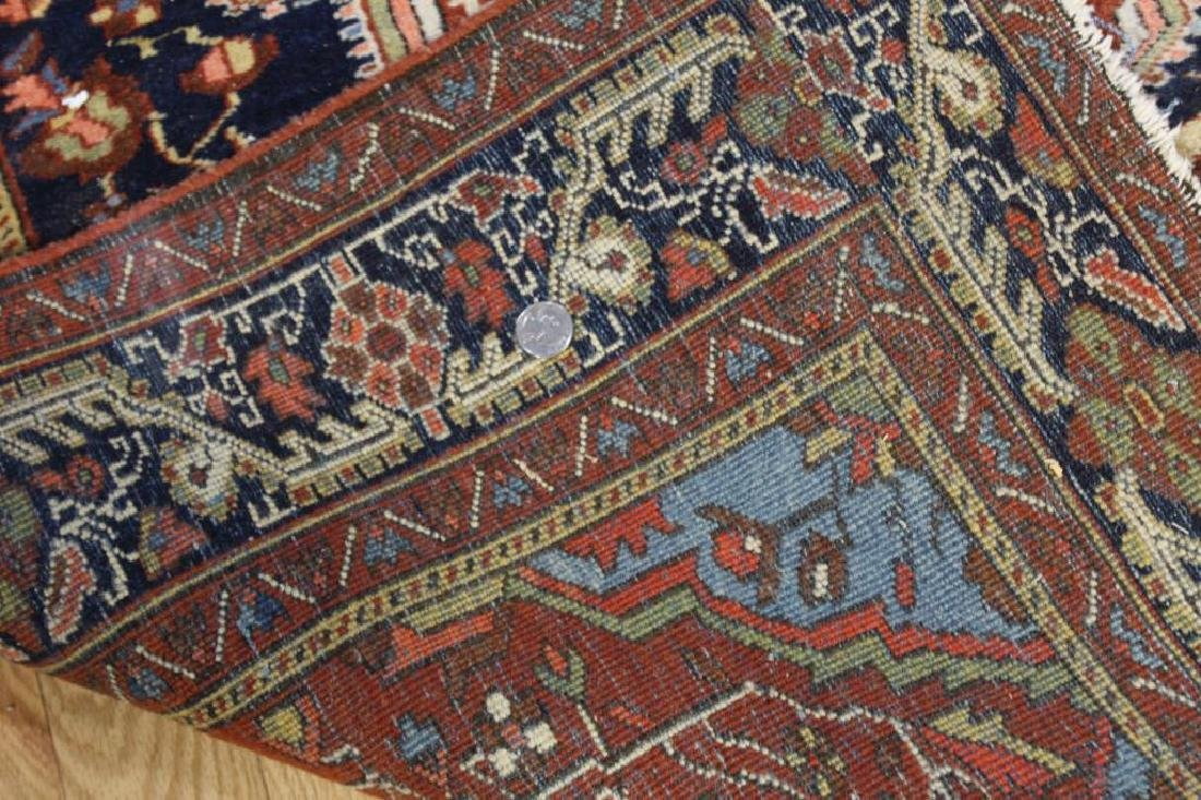 Antique and Finely Woven Sarouk Style Area Carpet. - 5