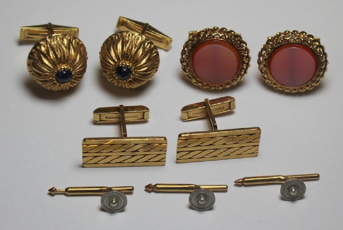 JEWELRY. Men's 14kt Gold Jewelry Grouping.