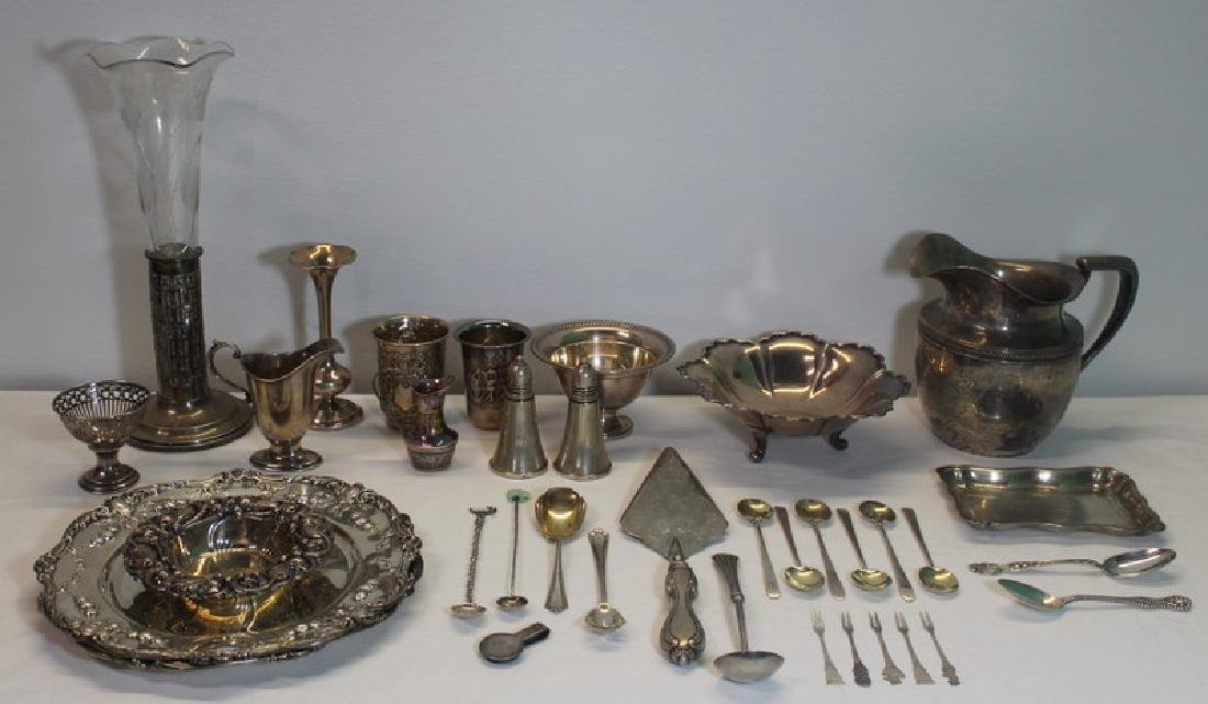 STERLING. Large Assorted Grouping of Hollow Ware