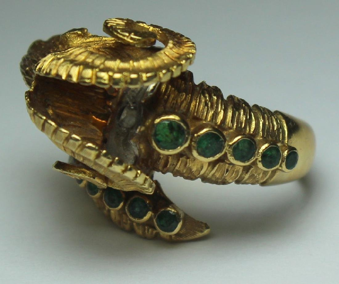 JEWELRY. Ilias Lalaounis 18kt Gold Ram's Head Ring - 3