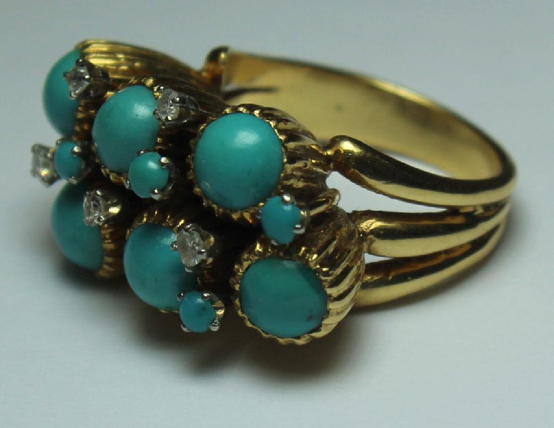 JEWELRY. J. Rossi 18kt Gold, Turquoise and Diamond - 2